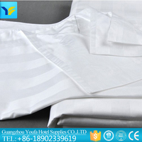 White 3cm stripe polyester/cotton chinese wholesale hotel bed sheets suppliers