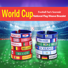 2018 world cup silicone bracelets custom logo silicone rubber man wristband bracelets cheap funny debossed silicone wristband