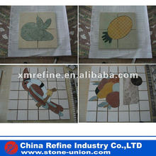 bird water jet marble floor medallion, water jet inlay patterns