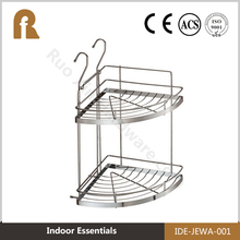 2016 Hot Selling single Tier stainless steel double kitchen utensil rack