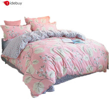 Chinese Duvet Quilt Cover American Custom Cactus Flamingo 3d Printed Cotton Polyester Linen Comforter Spread Bed Set Sheet