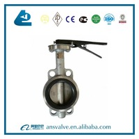 anticorrosive pipe line used lever handle seat ring butterfly valve