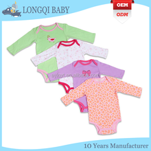 long sleeve 100% cotton baby rompers