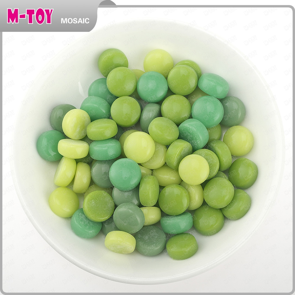 SR18 green round glass mosaic diy handicraft