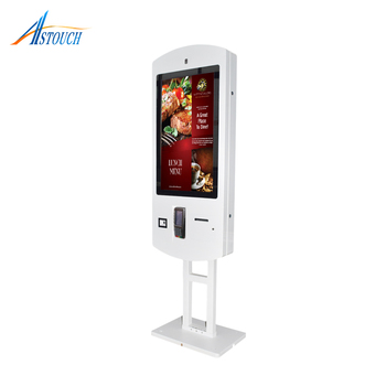 32 Inch Floor Standing Android System Payment Touch Kiosk