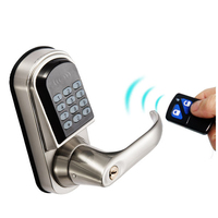 OSPON remote control digital tuber latch door lock,silver color