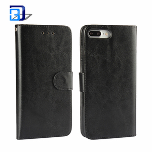Vintage Premium Synthetic Leather Credit Card & Cash Holders Magnet Closure Wallet Kickstand Flip Case Cover For iPhone 8 Plus