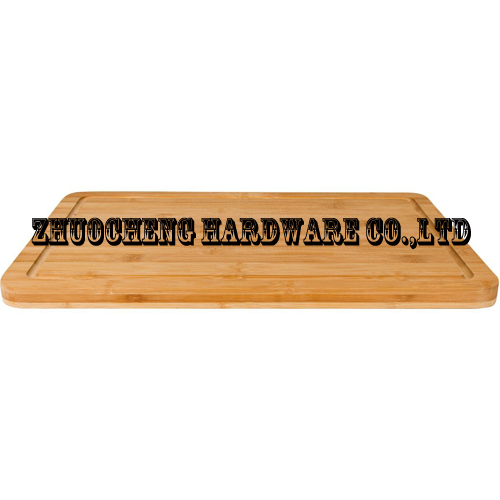 Bamboo Wood Cutting Board; Carving Board Topside has Drip Groove to Catch Liquids