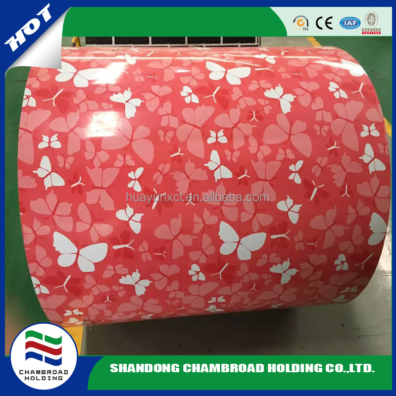 marble flower designs flower ppgi steel coil metal sheet plate textured Butterfly pattern