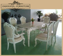 2014 white color dining room table with chairs,dining set TH01#
