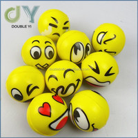 Hot selling smile face PU stress ball/PU foam ball toy