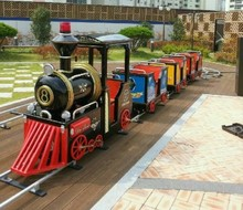 GMKP-T06 cute train! arcade kids amusement equipment,outdoor lighted trains christmas