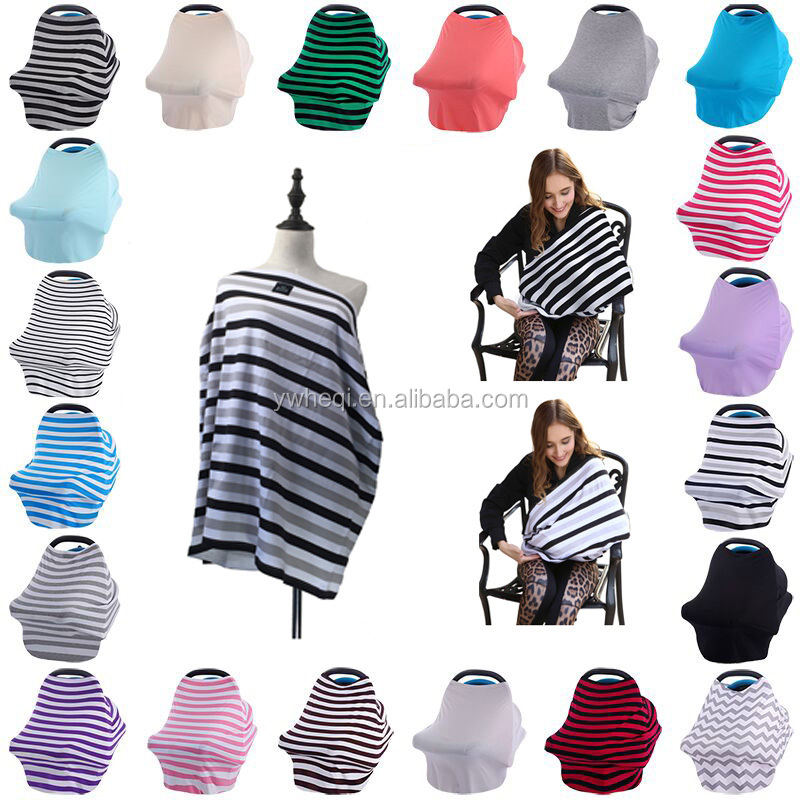 Amazon hot-selling nursing cover Multi-Use Stretchy 3 in 1 baby car seat cover