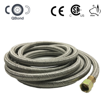 CSA approved ss flexible wire braided reinforced fuel gas hose for gas connector