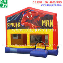 BJ-B100 spiderman inflatable bounce house, theme park design inflatable adult bounce house
