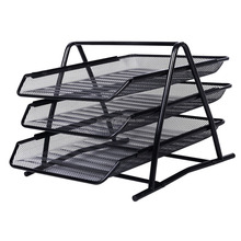 Metal Mesh 3-tier document tray A4 Paper Office Document File Paper Letter Tray Organiser Holder