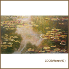 Claude Monet famous lotus pond oil painting of Water-lily Pond