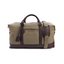 1DF0229 Vintage Stylish Heavy Duty Canvas Big Capacity Duffle bag Mens Outdoor weekender Canvas Travel Bag with Adjustable Strap