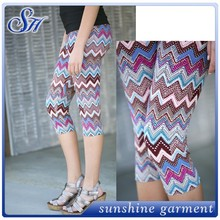 2015 new look chevron digital capri print leggings