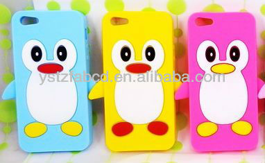 2013 new arrival lovely penguin silicone phone case,silicone mobilephone cover