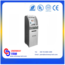 Custom-made coin and cash acceptor self card dispenser kiosk for payment