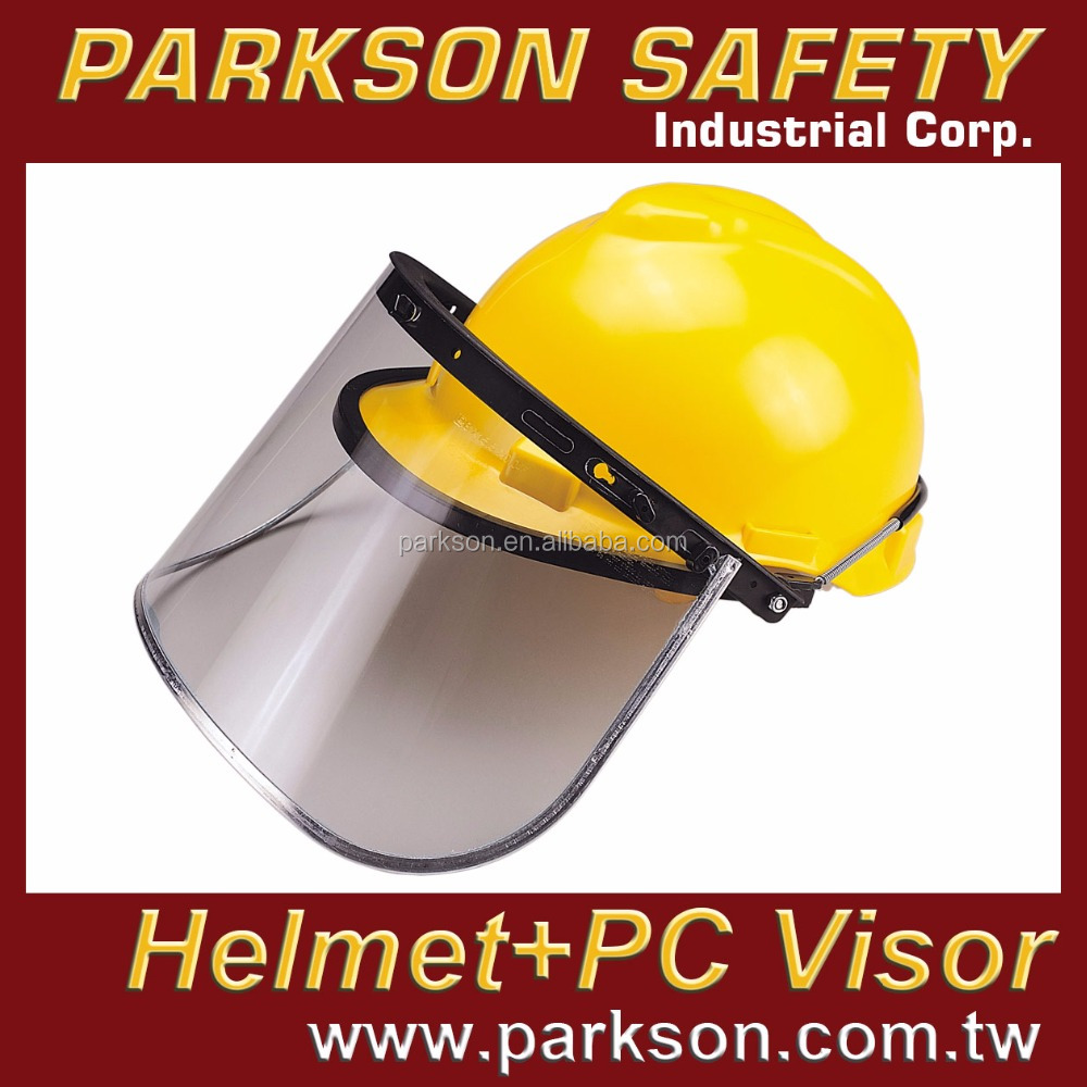 PARKSON SAFETY Taiwan Safety Helmet Simple Visor or PC Visor or PC Visor Aluminum Edge ANSI Z87.1