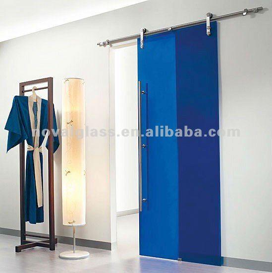 Decorative tempered glass sliding door buy glass sliding for Decorative tempered glass panels