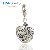 925 Fashion Silver Jewelry Customized Stamp Carving New York Beads Wholesale Beads