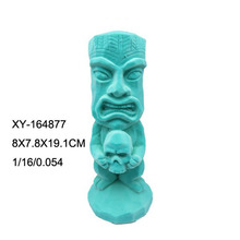 Custom flocking resin artificial tiki statues for wholesale