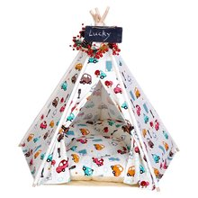 Pet Supplies Canvas Car Style Teepee and Kennels Dog Play House Play Tent Cat Bed