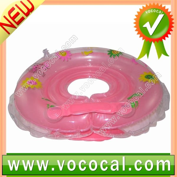 Pink Safe Swimming Ring for Baby Infant Kids Bath Float Neck Ring