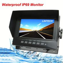 7 inch IP69 Waterpoof reverse camera monitor with 3.5 inch display & car dvr