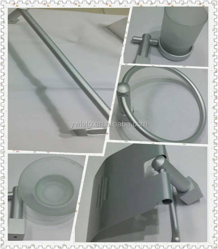 Good Quality New Simple Modern Design Aluminum Alloy Chrome Bathroom Accessories Sets