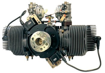 UAV Engine - Limbach L275e Two cylinder, horizontally opposed, air cooled, two cycle engine, mixture lubrication
