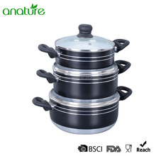 HQ-1025 Multi-function Non-stick Aluminum Sauce Pot With FDA certificate