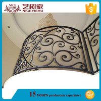 2016 New Design Wrought Iron Balcony Railing Parts for Staircase Fence Railings (China) 6233