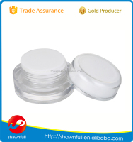 New empty clear 5gram plastic cream jars, 5g jar cosmetic container with lids