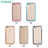 2016 New Products Hollow Grip Style Electroplate TPU case, electroplating back case cover for iPhone 6 plus