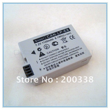 On promotion LP-E8 Battery For CANON EOS 550D Digital Rebel T2i 7.2V 1120mAh