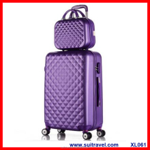 China Factory ABS PC trolley luggage case 2pcs in one set