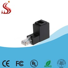 High Quality 90 Degree Angle Keystone Jack Cat5e/Cat6 Ethernet Adapter RJ45 Male to Female