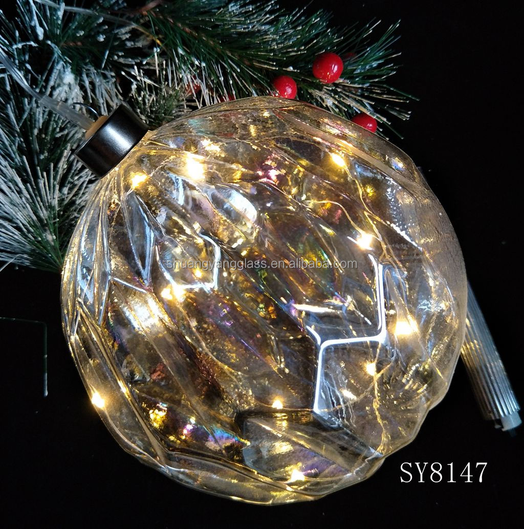 150mm home decoration ball hanging led light glass ball