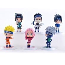 Hot animation Naruto One piece Childrens game Action Movie Figures Mini Toys Wholesale 6 pieces/set