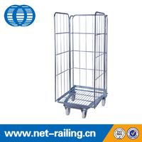 Logistics warehouse wire mesh security roll cage