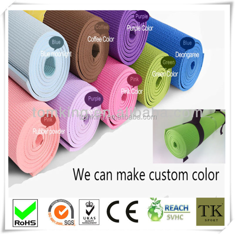 cheapest yoga mat,custom logo printing pvc yoga mat
