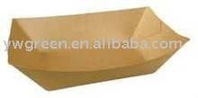 disposable custom printed paper food tray;deli container