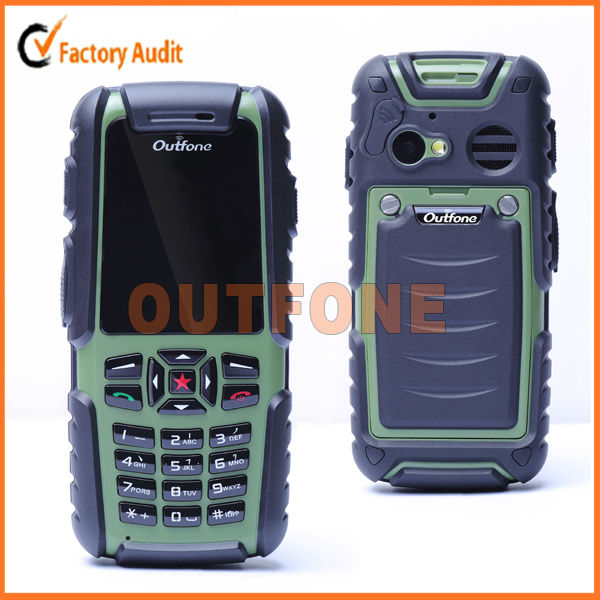Outfone 100% waterproof unique rough outdoor mobile phone