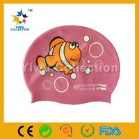 100% water-proof swim cap,promotional swimming items,100% silicone material ear protection swim cap for men & women