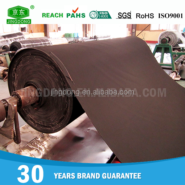 Eco-friendly reclaimed material fabric insertion rubber sheet