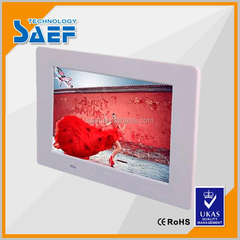 1024x600 advertising player video player 7 inch wall mount digital frame photo